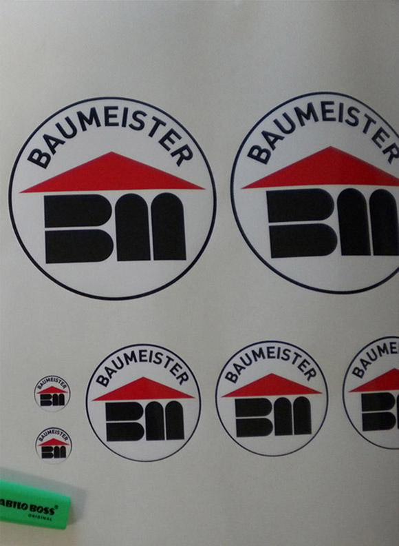 Baumeister-Logokleber 150mm