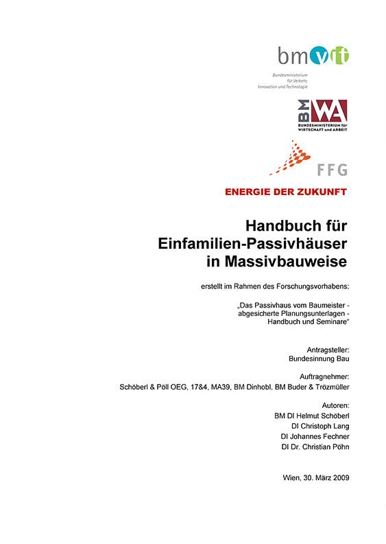 Handbuch für Einfamilien-Passivhäuser in Massivbauweise