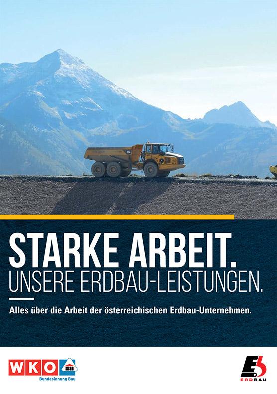 Imagebroschüre Erdbau – Alles über die Arbeit der österreichischen Erdbau-Unternehmen
